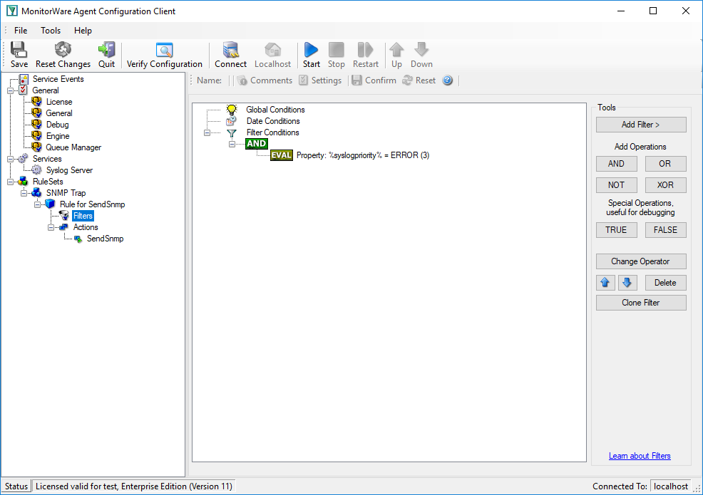 How to send generic SNMP Traps with MonitorWare Agent  - Adiscon